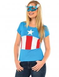 American Dream Captain America™ t-shirt en masker voor vrouwen