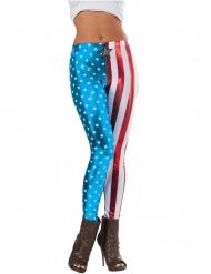 Metallic Captain America™ legging voor vrouwen