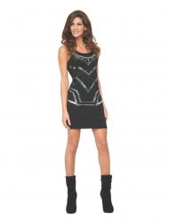 Zwarte Black Panther™ jurk voor vrouwen
