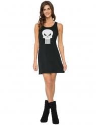 Zwarte Punisher™ jurk voor vrouwen
