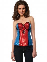 Spidergirl™ korset met lovertjes voor vrouwen