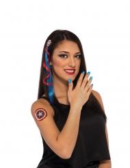 Captain America™ schmink en accessoire set voor vrouwen