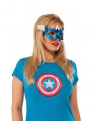 Captain America™ oogmasker voor vrouwen