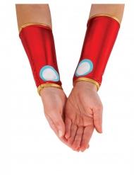 Rode metallic Iron Man™ armstukken voor vrouwen