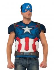 Captain America™ deluxe t-shirt met masker voor volwassenen