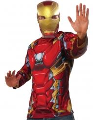 Captain America Civil War™ Iron Man t-shirt en masker voor volwassenen