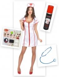 Zombie verpleegster kostuum pack voor vrouwen