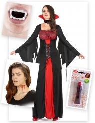 Bloederig vampier kostuum pack voor vrouwen
