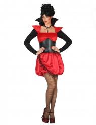 Sexy rood en zwart vampier kostuum voor vrouwen