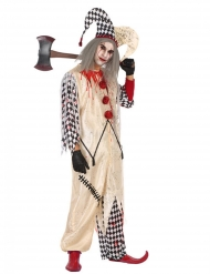 Bebloed harlekijn kostuum voor mannen