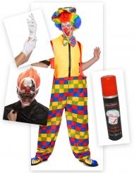 Angstaanjagende clown kostuum pack voor volwassenen