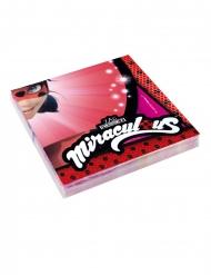 20 papieren Ladybug™ Miraculous servetten