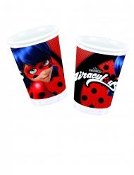 8 plastic Miraculous™ Ladybug™ bekers