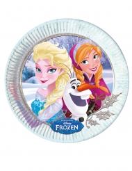 8 kartonnen Anna en Elsa Frozen bordjes