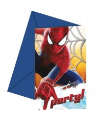 6 The Amazing Spiderman™ uitnodigingen