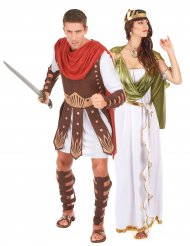 Gladiator en godin koppelkostuum voor volwassenen