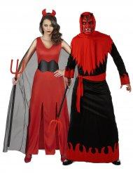 Rode duivel koppelkostuum voor volwassenen