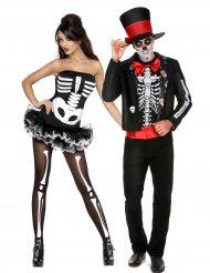 Halloween skelet koppelkostuum