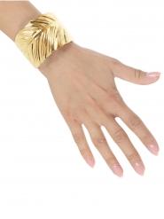 Goudkleurige bladeren armband voor volwassenen
