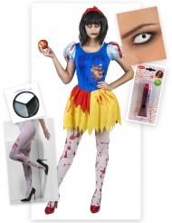 Pack Sneeuwitje zombie Halloween kostuum