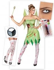 Pack bloederige Halloween zombie fee voor vrouwen