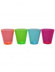 50 plastic veelkleurige neon shotglazen