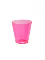 60 neon roze plastic shotglaasjes