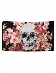 Bloemen skelet vlag van polyester