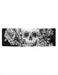 Bloemrijk skelet muurdecoratie