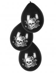 6 latex bloemen Dia de los Muertos ballonnen