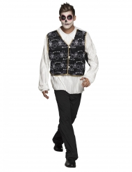 Zwart en wit Mexicaans kostuum voor volwassenen