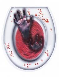 Bloederige handen wc sticker