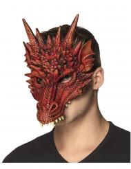 Rode draak half masker van schuim voor volwassenen