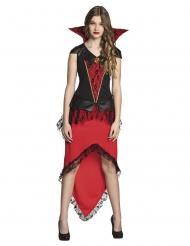 Bloederige vampier koningin kostuum voor tieners