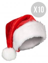 10 kerstmutsen pack voor volwassenen