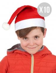 Pack 10 kerstmutsen voor kinderen