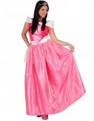 Roze met wit prinses kostuum voor dames