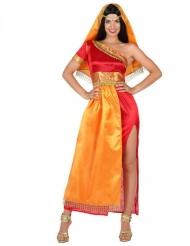 Sexy tweekleurig Bollywood kostuum voor vrouwen