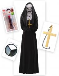 Verkleed set demonische non voor vrouwen