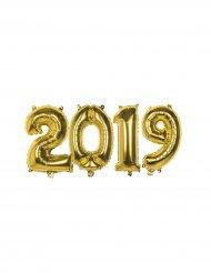 Goudkleurige aluminium 2019 ballonnen