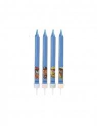 4 blauwe Paw Patrol™ verjaardagskaarsjes