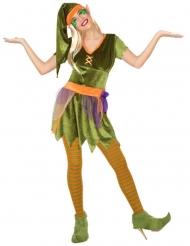 Kleurrijk boskabouter kostuum voor vrouwen