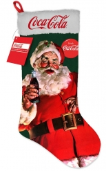 Grote lichtgevende Coca Cola kerstsok