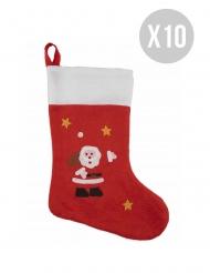 Pack van 10 kerst sokken