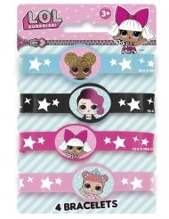 4 elastische Lol Surprise™ armbanden