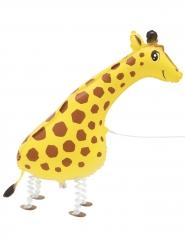 Metallic wandelende giraffe ballon