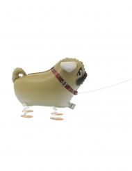 Metallic wandelende hond ballon
