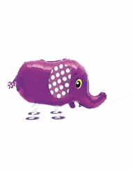 Metallic paarse olifant ballon