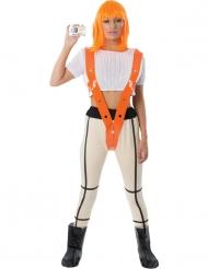 Luxe oranje heldin kostuum voor volwassenen