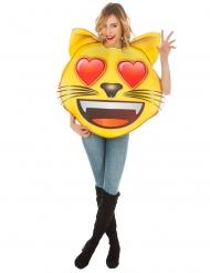 Verliefde kat Emoji™ kostuum voor volwassenen